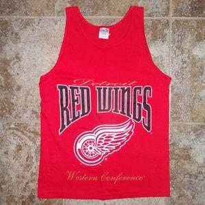Vtg Detroit Red Wings NHL Tank Top